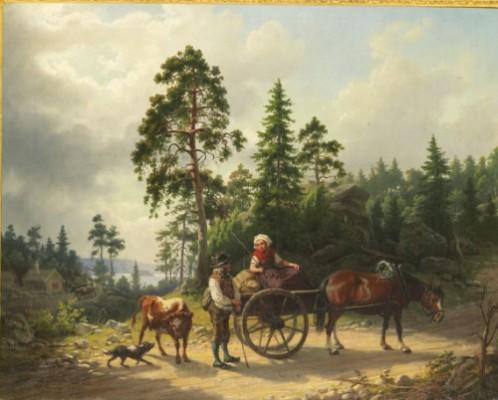 På Färd Till Värnamo Marknad by Nils ANDERSSON