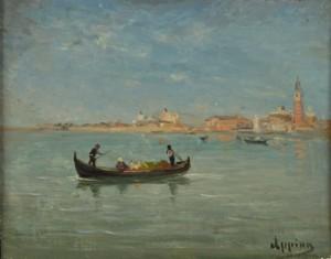 Gondole à Venise by Adolphe APPIAN