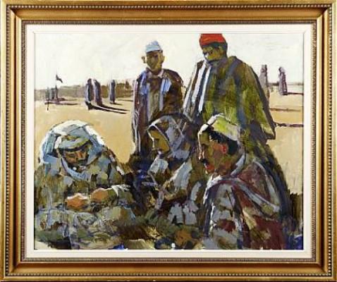Samtalande Män, Nordafrika by Bertil WAHLBERG