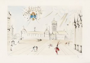Stockholms Slott by Salvador DALI