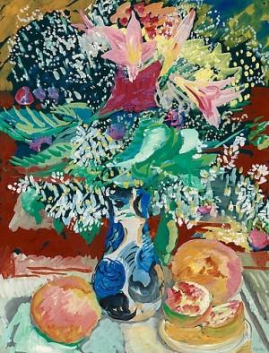 Blomsterstilleben by Sigrid HJERTÉN