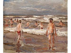 Badende Knaben Im Meer, 1899 by Max LIEBERMANN