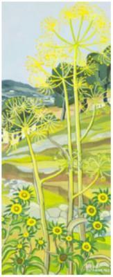 Vy över Blommande Landskap by Stina SUNESSON