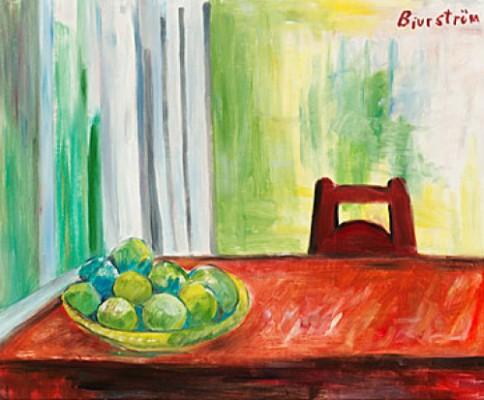 Stilleben.med Gröna äpplen by Tor BJURSTRÖM