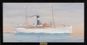 Fartygsporträtt Av Rederi Ab Sveas Passagerarångare