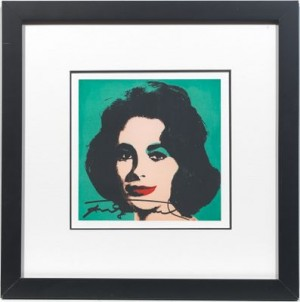 Liz On Teal Background by Andy WARHOL