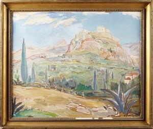 Landskap - Akropolis I Aten by Einar FORSETH