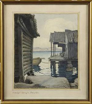 Fiskeläget Kärringön, Bohuslän by Ferdinand BOBERG