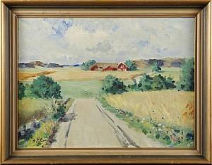 Sommarlandskap Med Gård by Henrik SKAGH