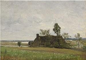 Landskap Från Saint Michel, Frankrike by Alfred WAHLBERG