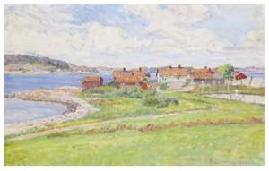 Sommarlandskap Med Fiskeläge by Anton GENBERG