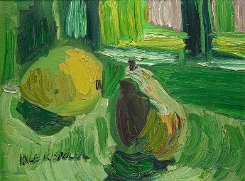 Stilleben Med Päron by Inge SCHIÖLER