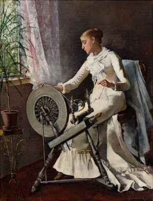 Girl By The Spinning Wheel by Amelie LUNDAHL