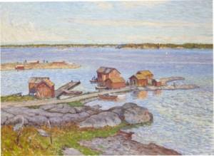 Motiv Från Fiskebäckskil by Anton GENBERG