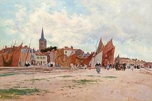 Holländsk Stad Med Kanal by Maurice François A. COURANT