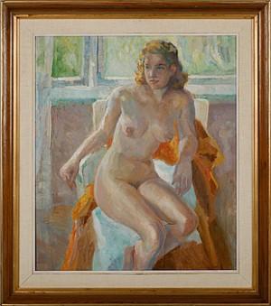 Sittande Kvinna by Erik LAMM