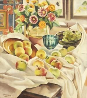 Stilleben Med äpplen by Gerhard WIHLBORG