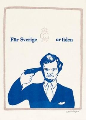 (4) Litografier Bla För Sverige Ur Tiden, 1968 by Lars HILLERSBERG