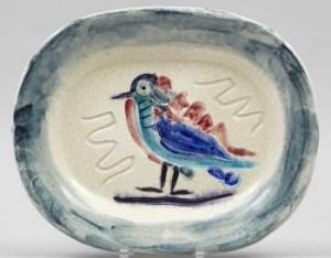 Polychrome Bird. A Picasso Madoura Dish by Pablo PICASSO