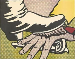 Foot And Hand by Roy LICHTENSTEIN