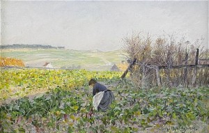 Etaples- Franskt Landskap by Anshelm SCHULTZBERG