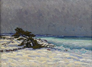 Vinterlandskap by Axel SJÖBERG