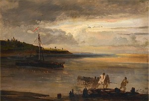 Boaters By Volga by Alexei Kondratevich SAVRASOV