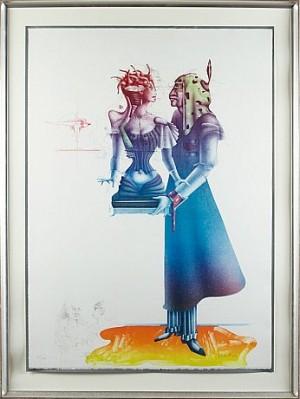 Komposition Med Kvinnofigur by Paul WUNDERLICH