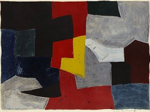 Composition Grise, Rouge Et Jaune by Serge POLIAKOFF