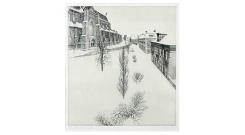 """Vinterstad Ii"""" - Motiv Med Uppsala Domkyrka by Christian DUE"""