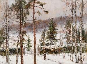Snowfall by Yuliy Yulyevich KLEVER
