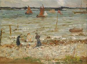 Badställe Vid Seine by Helmer OSSLUND
