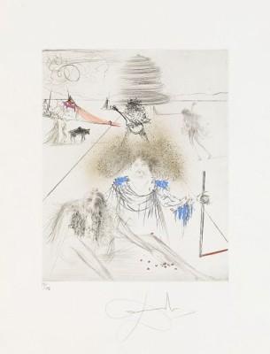 Hippies (4): Corridor De Kathmandou, Le Cosmonaute, St Jacques De Compostelle, Le Vieil Hippy by Salvador DALI