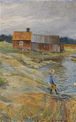 Gosse I Skärgården by Gustaf FJÆSTAD