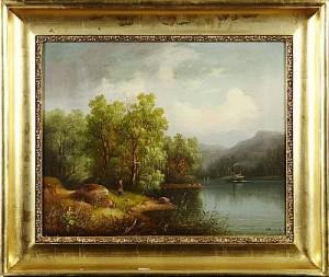 Landskap Med Vattendrag by Carl Abraham ROTHSTÉN