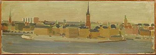 Vy över Riddarholmen Från Södermalm by Kurt LINDON