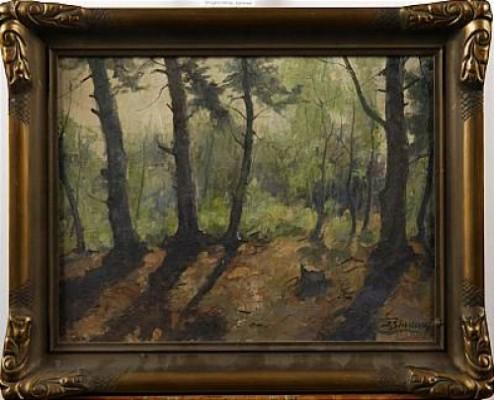 Skogslandskap by Jens SINDING CHRISTENSEN
