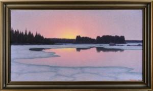 Skymning över Vinterlandskap by Otto LINDBERG