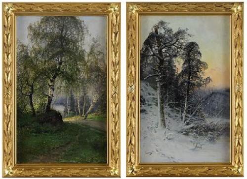 (2) årstiderna - Vinter Och Sommar by Johan 'John' KINDBORG