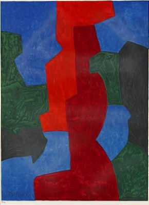 Composition Bleue, Rouge Et Verte by Serge POLIAKOFF