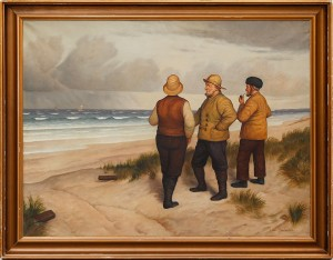Fiskare På Strand by Niels WALSETH