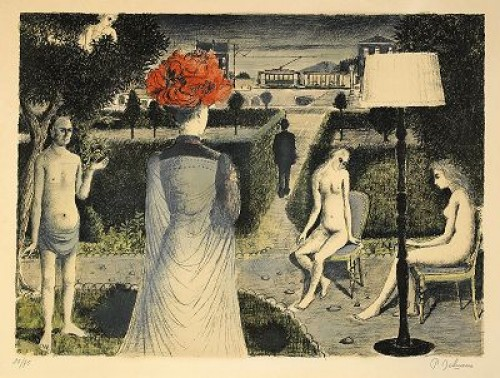 The Garden, (lit: Jacob 48) by Paul DELVAUX