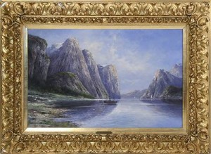 Fjord Med Fartyg, Signerad B. Lambert, by Karl KAUFMANN