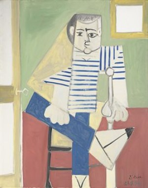 Homme Assis Sur Une Chaise by Pablo PICASSO