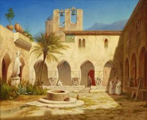 Vue Av Klostergården, Palermo by Gustaf Wilhelm PALM