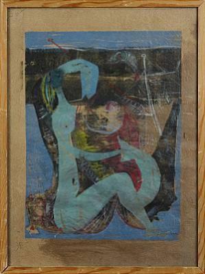 Kvinna I Fiskehamn by Adja YUNKERS