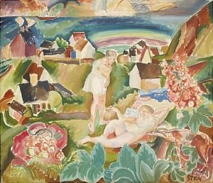 Sovande Kvinna by John STEN