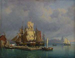 Vue Af Valdemarsudde På Djurgården by Gustaf Wilhelm PALM
