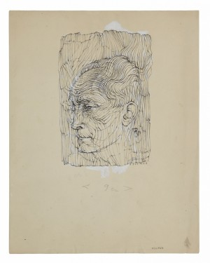 Portait De Jehan Mayoux, Profil by Hans BELLMER