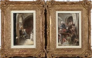 (2) Interiörer, Studier Till Cederströms Målning